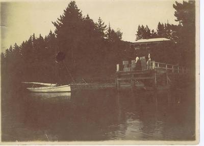 Print, Photographic, Wharf and yacht