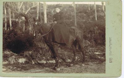 Print, Photographic, Woman riding sidesaddle