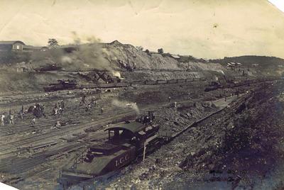 Print, Photographic, Panama Canal Excavation