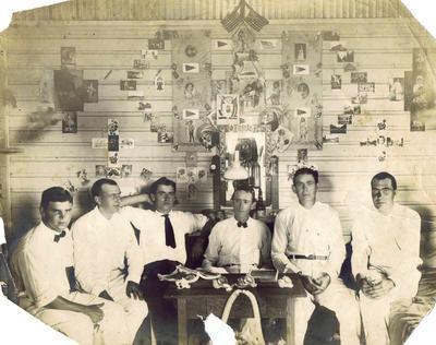 Print, Photographic, Men at Panama