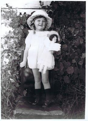 Print, Photographic, Child with doll
