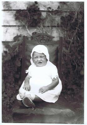 Print, Photographic, Baby on chair
