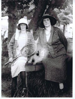 Print, Photographic, Two women with dog