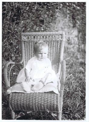 Print, Photographic, Baby seated on chair