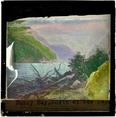 Glass Lantern Slide, Dusky Bay