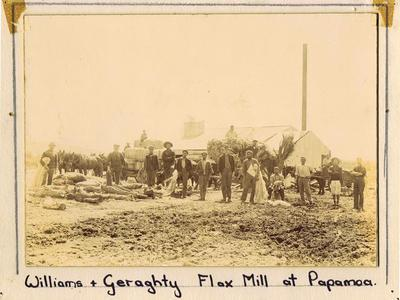 Print, Photographic, Williams & Geraghty Flax Mill Papamoa