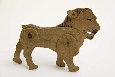 Lion, Toy Wooden, WW1