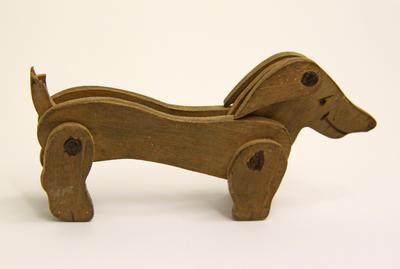 Dog, Toy Wooden, WW1