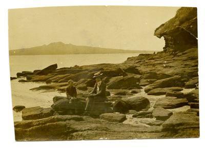 Print, Photographic,  Rangitoto from North Shore