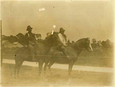 Print, Photographic, Men on horseback, Maketu