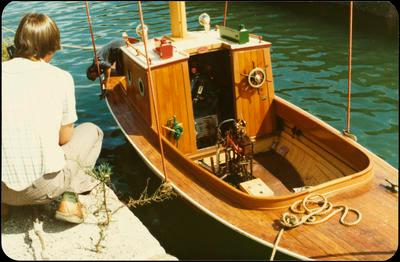 Print, Photographic, 'Romp', Fishing boat, Tauranga Harbour