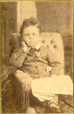 Print, Photographic, Boy wearing glasses