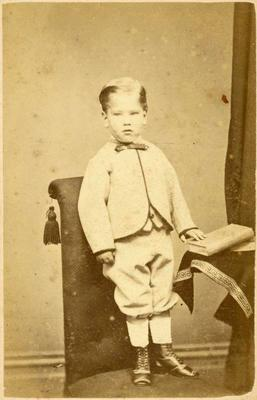 Print, Photographic, Boy standing with book