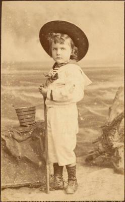 Print, Photographic, Child in sailor suit