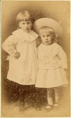 Print, Photographic, Two girls in dresses