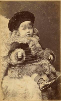 Print, Photographic, Girl in fur coat and hat