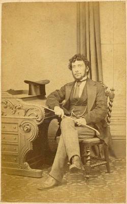 Print, Photographic, Seated Man