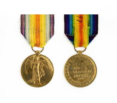 Victory Medal, WW1, C. P. Hine
