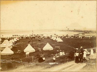 Print, Photographic, Tauranga Mounted Rifles Camp, Tauranga