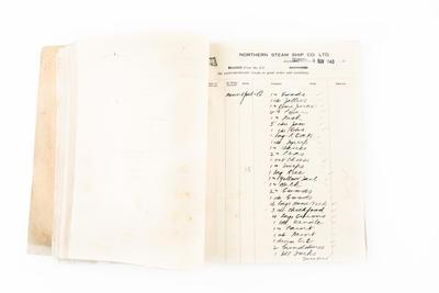 "Ledger, Northern SS.Co., ""Ranginui"" and ""Kapiti"""