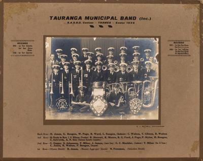 Print, Photographic, Tauranga Municipal Band