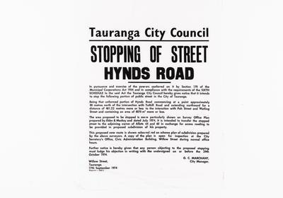 Announcement, Tauranga City Council