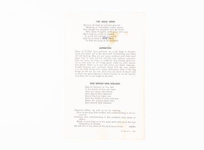 Townswomen's Guild Order of Service
