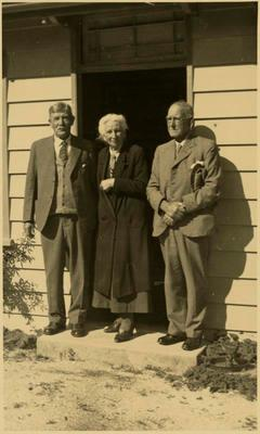 Print, Photographic, Miss Maxwell, G C Williams, C R Kemp, The Elms, Tauranga