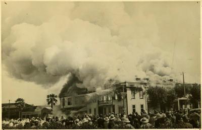 Print, Photographic, Fire, Tauranga Hotel