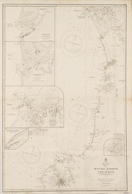 Map, Manukau Harbour to Cape Egmont, North Island