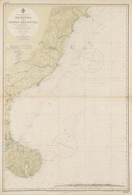 Map, Kaikoura to Banks Peninsula, South Island