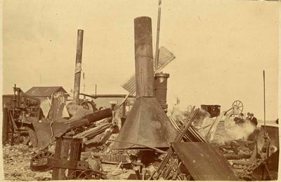 Print, Photographic, Workshop Fire, P.W.D, Mount Maunganui