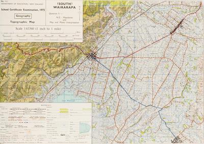 Map, School C Examination