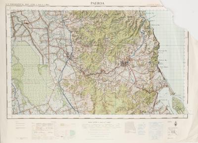 Map, Topographical, Paeroa