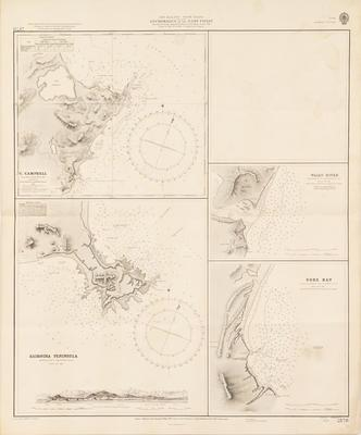 Map, Anchorages, East Coast, South Island