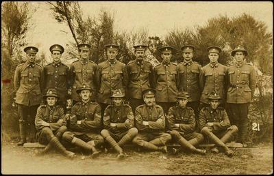 Print, Photographic, Soldiers, WW1, Tauranga